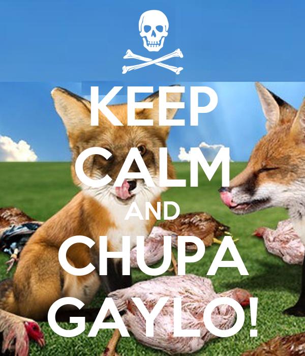KEEP CALM AND CHUPA GAYLO!