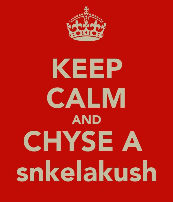 KEEP CALM AND CHYSE A  snkelakush