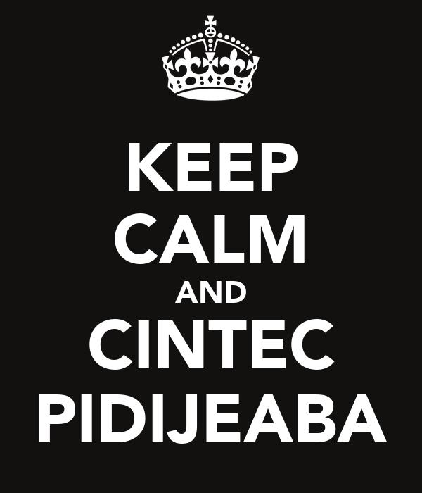 KEEP CALM AND CINTEC PIDIJEABA