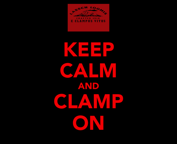 KEEP CALM AND CLAMP ON