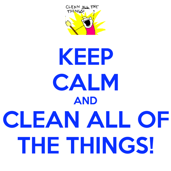 KEEP CALM AND CLEAN ALL OF THE THINGS!