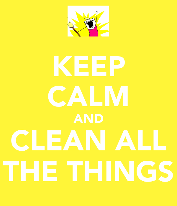 KEEP CALM AND CLEAN ALL THE THINGS