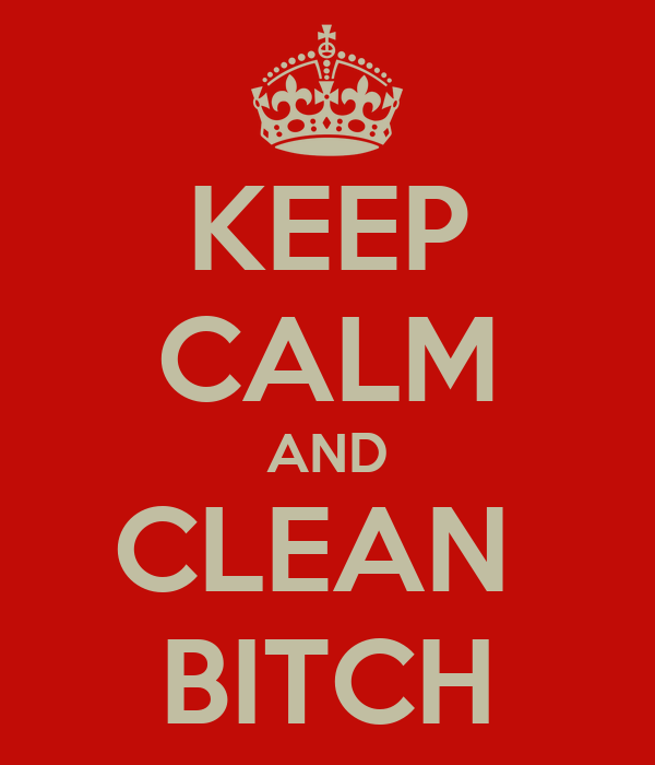 KEEP CALM AND CLEAN  BITCH