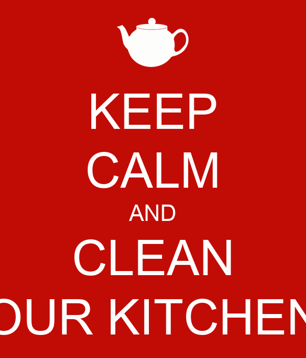 Keep Kitchen Clean Sign