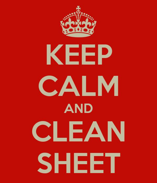 KEEP CALM AND CLEAN SHEET