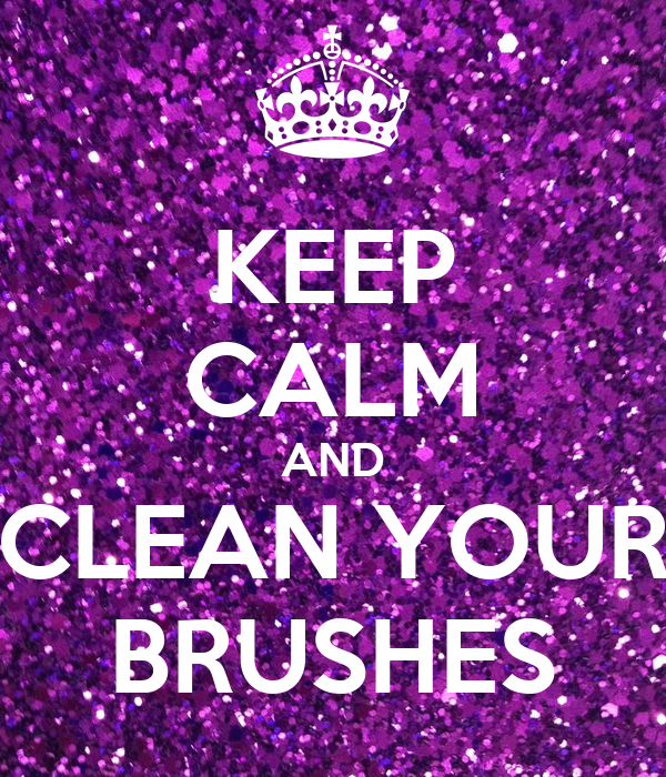 how to keep brushes clean