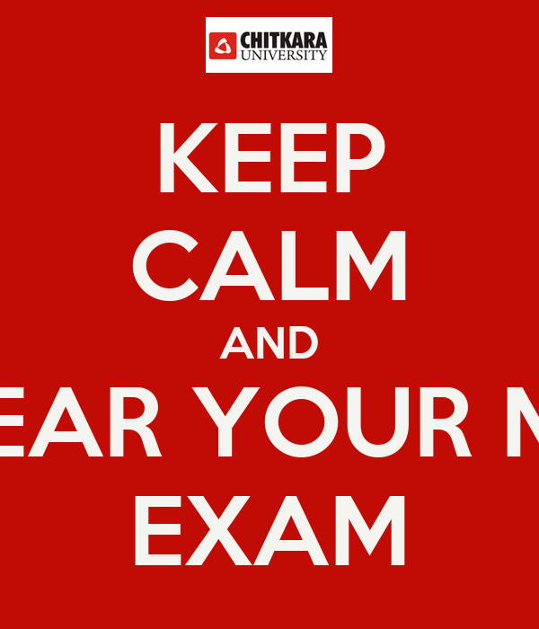 KEEP CALM AND CLEAR YOUR MST EXAM