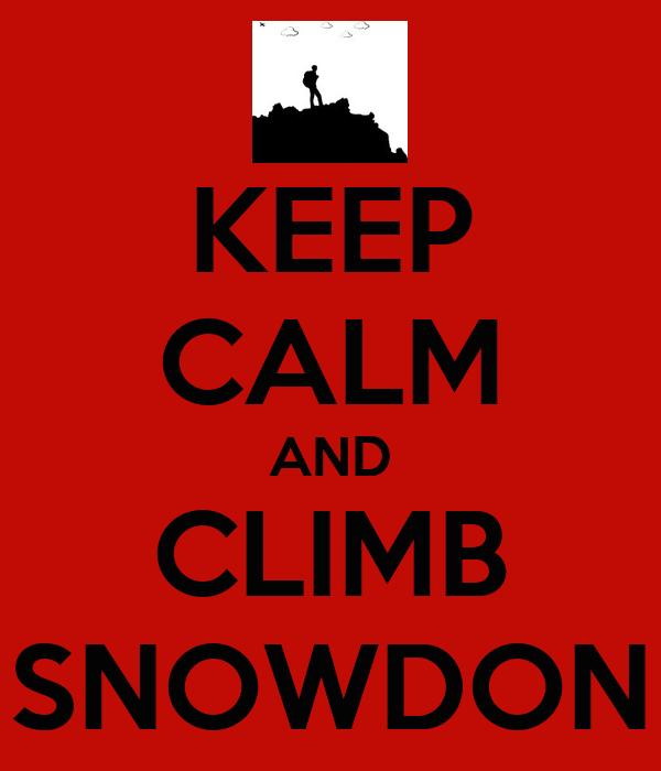 KEEP CALM AND CLIMB SNOWDON