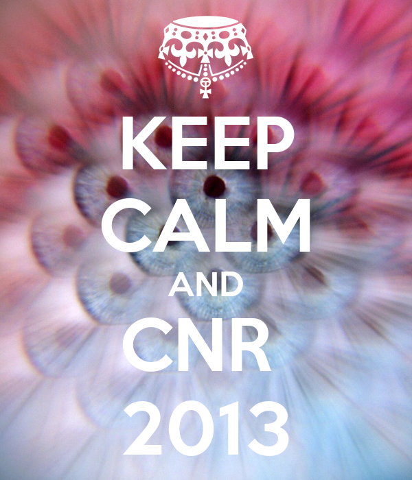 KEEP CALM AND CNR  2013