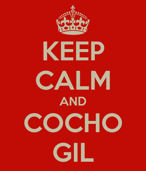 KEEP CALM AND COCHO GIL