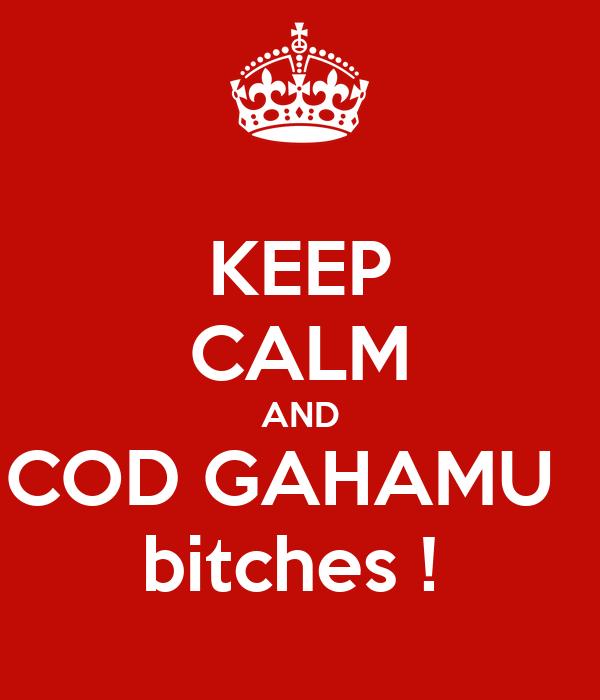 KEEP CALM AND COD GAHAMU   bitches !