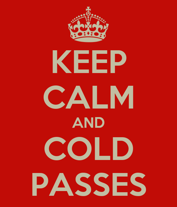 KEEP CALM AND COLD PASSES