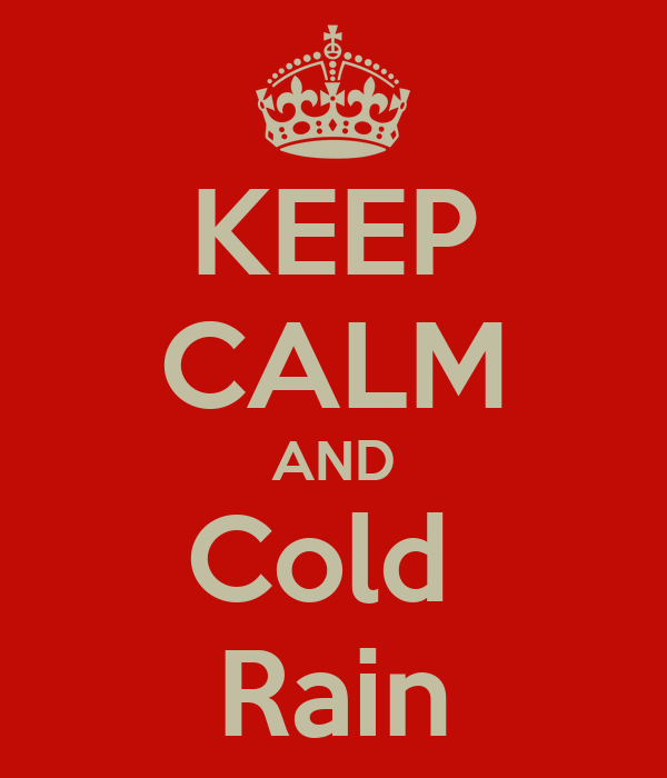 KEEP CALM AND Cold  Rain