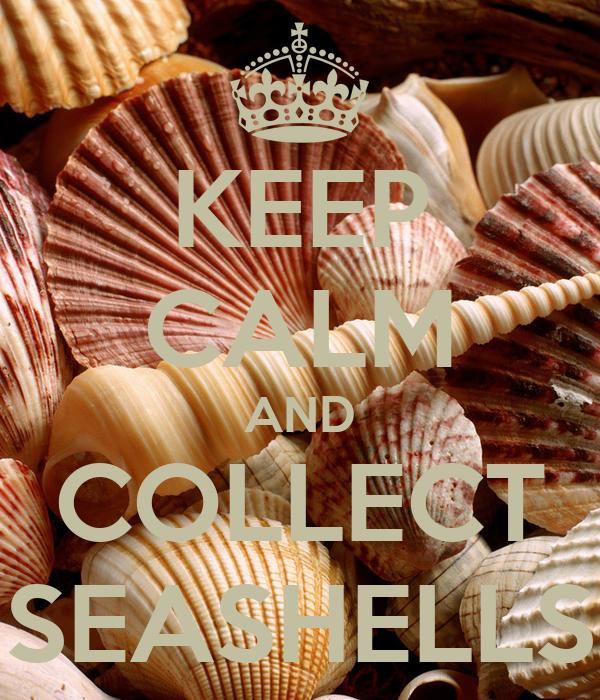 KEEP CALM AND COLLECT SEASHELLS