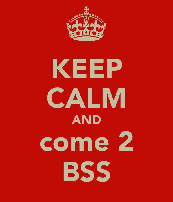 KEEP CALM AND come 2 BSS