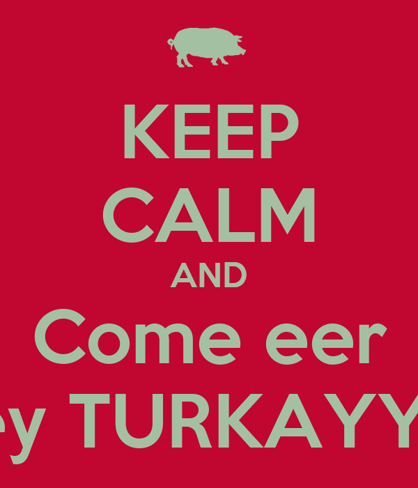 KEEP CALM AND Come eer Turkey TURKAYYYYY