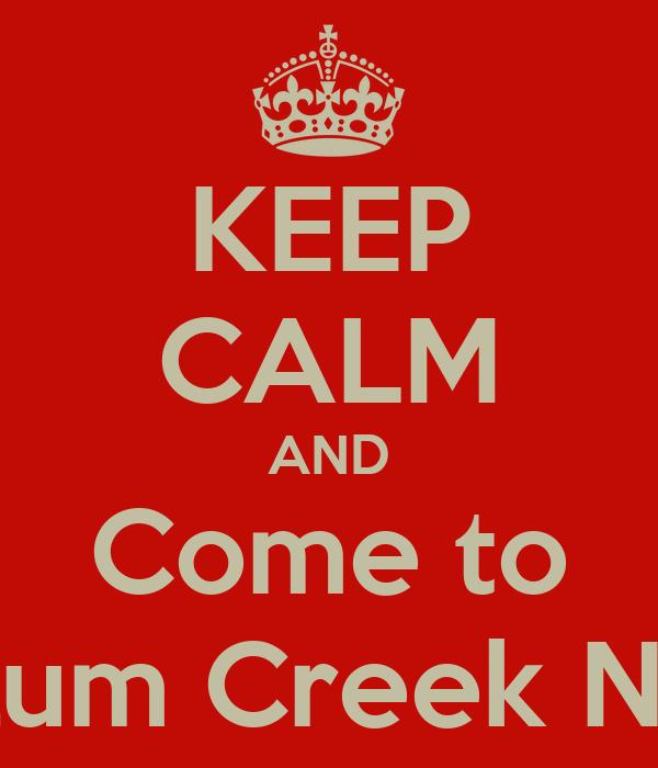 KEEP CALM AND Come to Alum Creek Naz