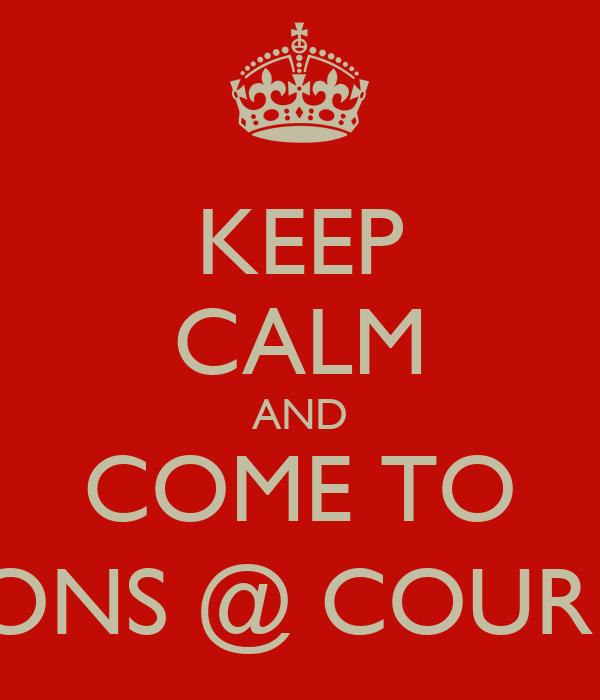 KEEP CALM AND COME TO VIGNERONS @ COURMAYEUR