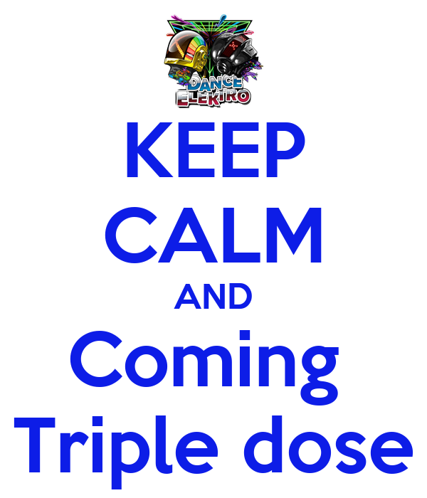 KEEP CALM AND Coming  Triple dose