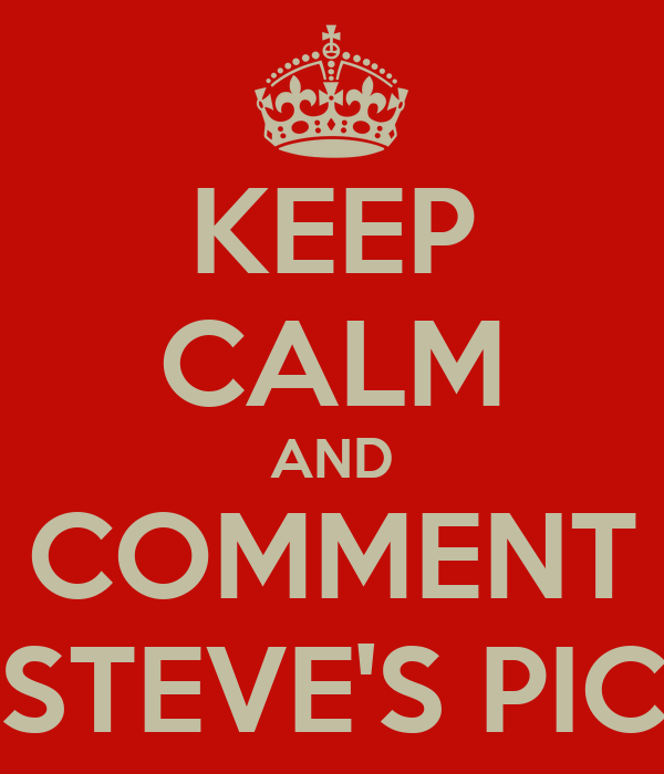 KEEP CALM AND COMMENT STEVE'S PIC