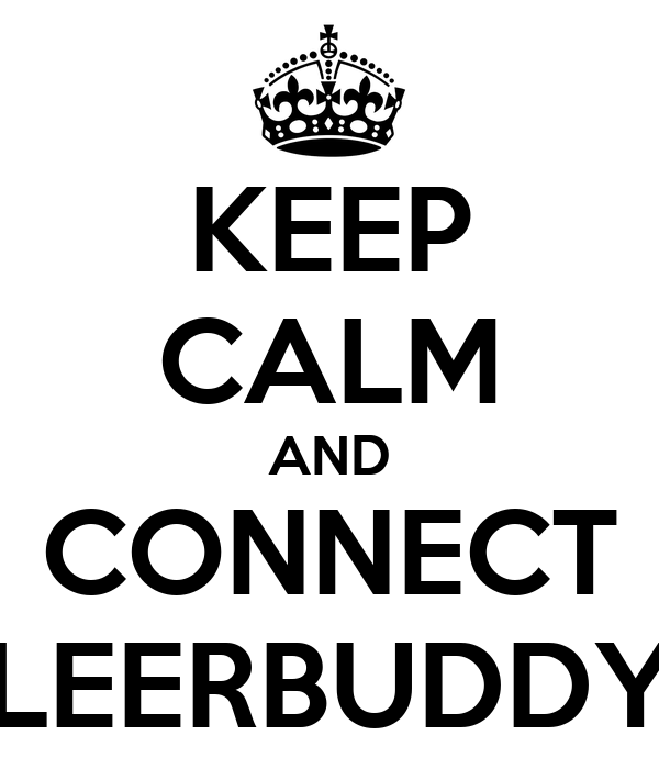 KEEP CALM AND CONNECT LEERBUDDY
