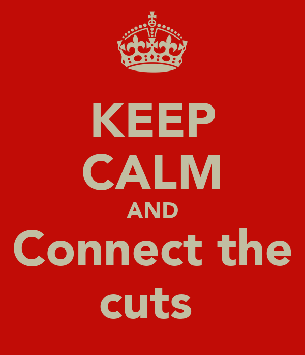 KEEP CALM AND Connect the cuts