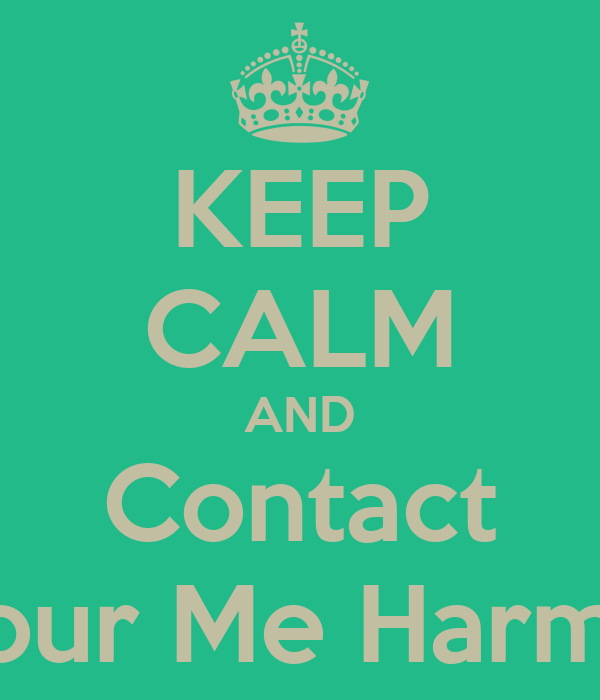 KEEP CALM AND Contact Colour Me Harmony