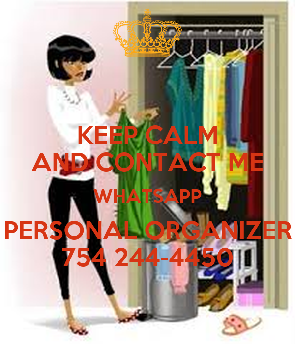 KEEP CALM AND CONTACT ME WHATSAPP PERSONAL ORGANIZER 754 244-4450