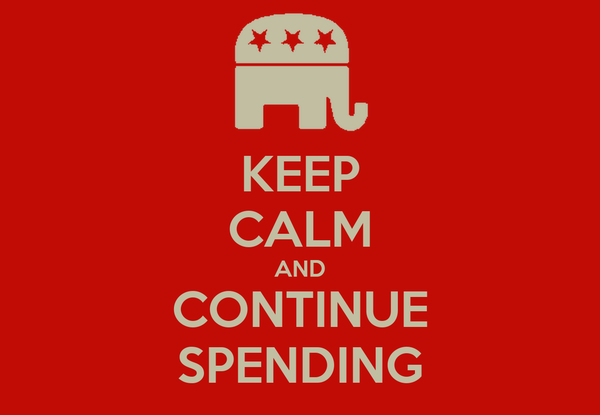 KEEP CALM AND CONTINUE SPENDING