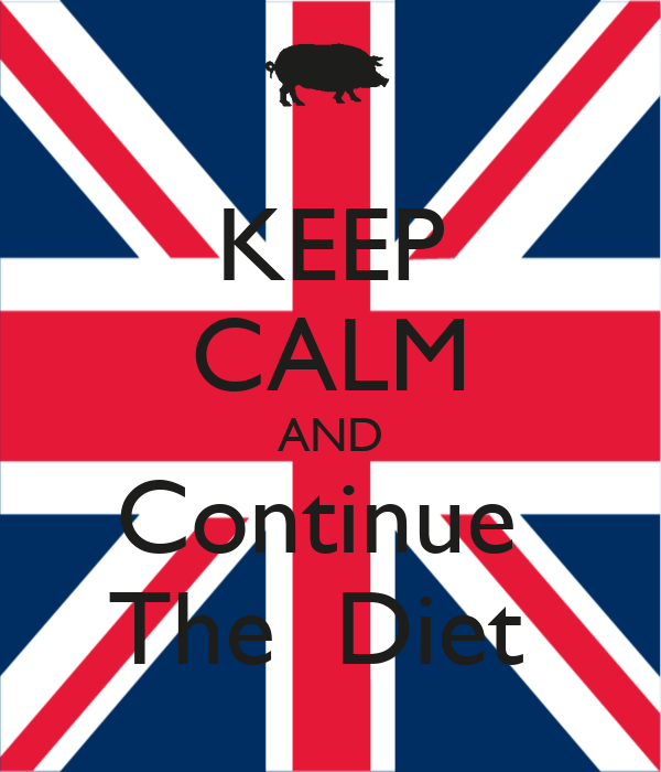 KEEP CALM AND Continue  The  Diet