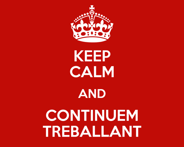 KEEP CALM AND CONTINUEM TREBALLANT