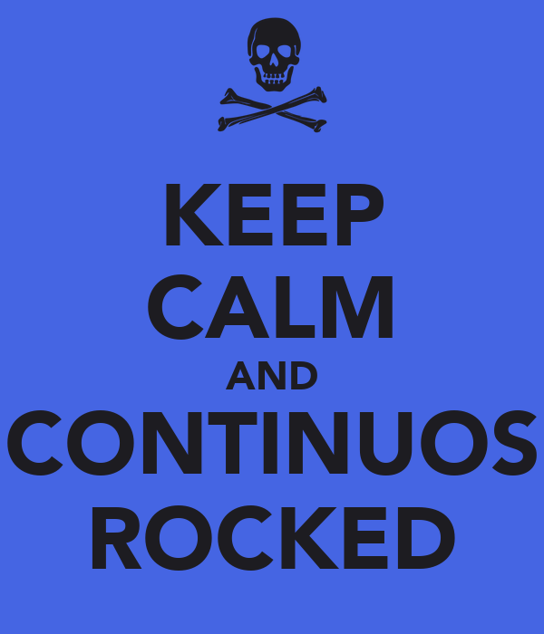 KEEP CALM AND CONTINUOS ROCKED