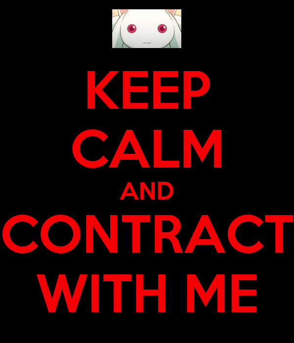 KEEP CALM AND CONTRACT WITH ME