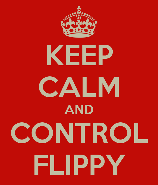 KEEP CALM AND CONTROL FLIPPY
