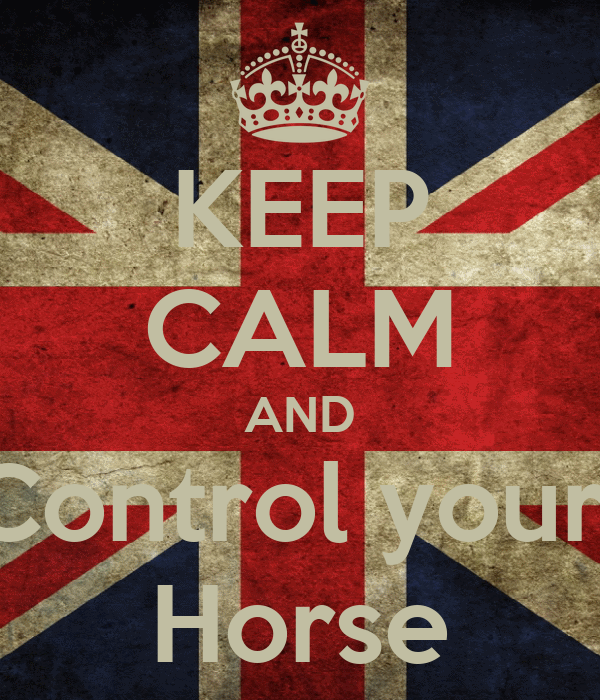 KEEP CALM AND Control your  Horse