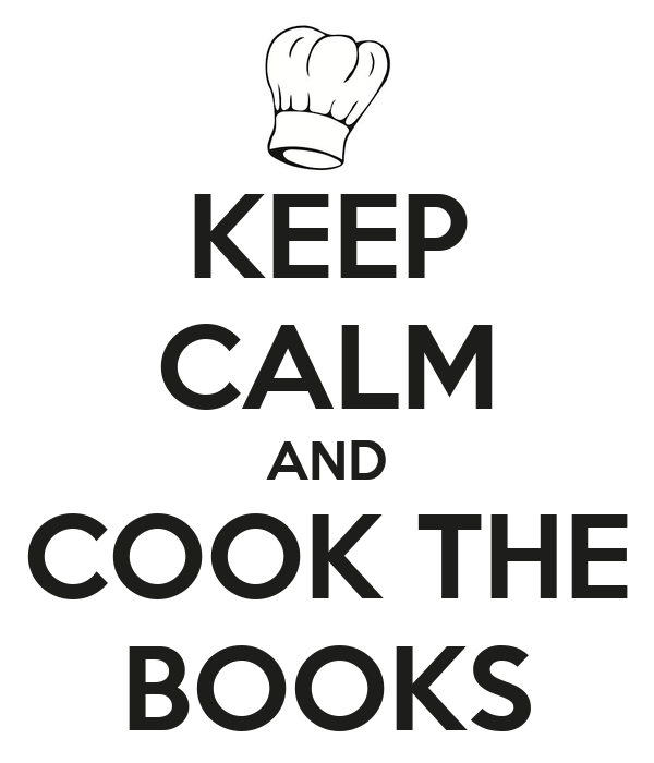 KEEP CALM AND COOK THE BOOKS