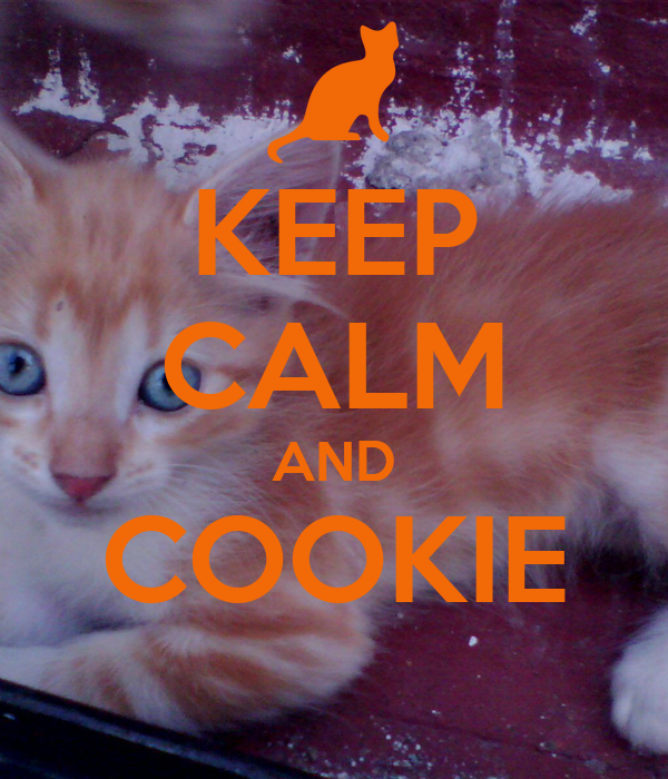 KEEP CALM AND COOKIE