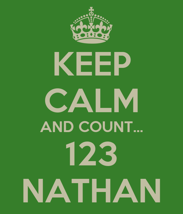 KEEP CALM AND COUNT... 123 NATHAN
