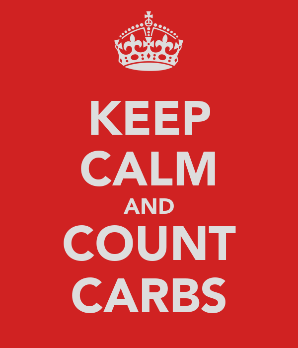 KEEP CALM AND COUNT CARBS