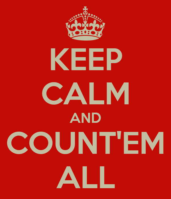 KEEP CALM AND COUNT'EM ALL