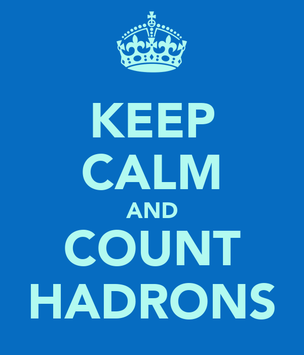KEEP CALM AND COUNT HADRONS