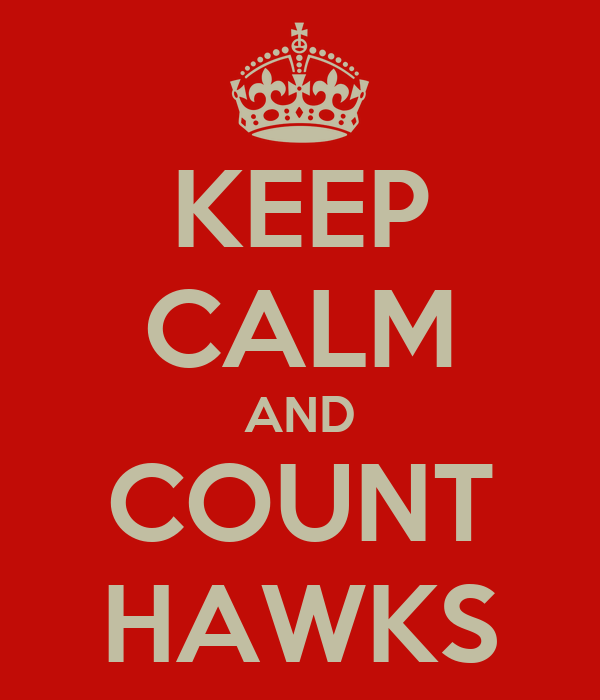 KEEP CALM AND COUNT HAWKS