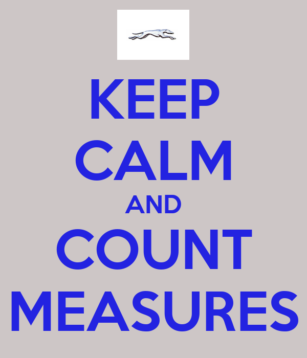KEEP CALM AND COUNT MEASURES