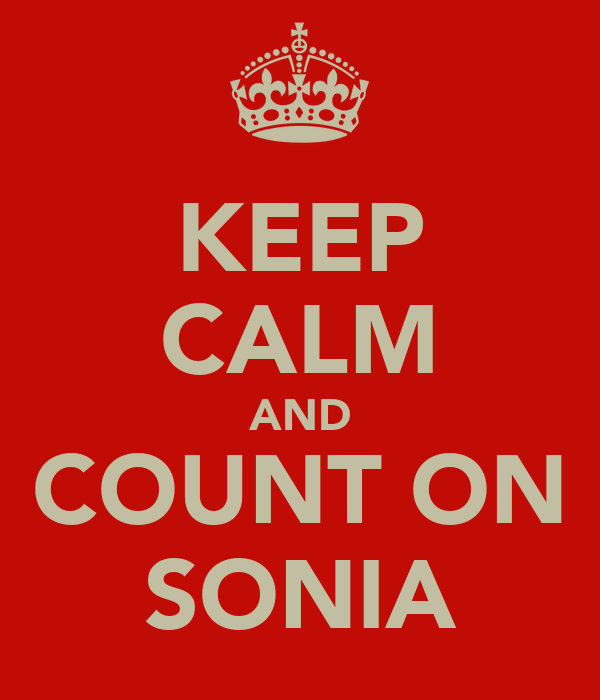 KEEP CALM AND COUNT ON SONIA