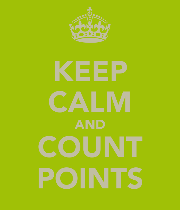 KEEP CALM AND COUNT POINTS