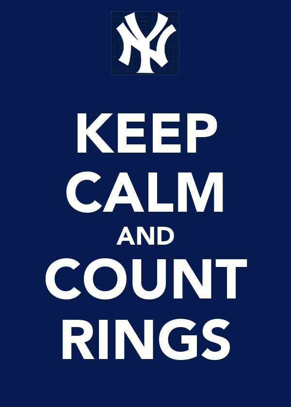 KEEP CALM AND COUNT RINGS
