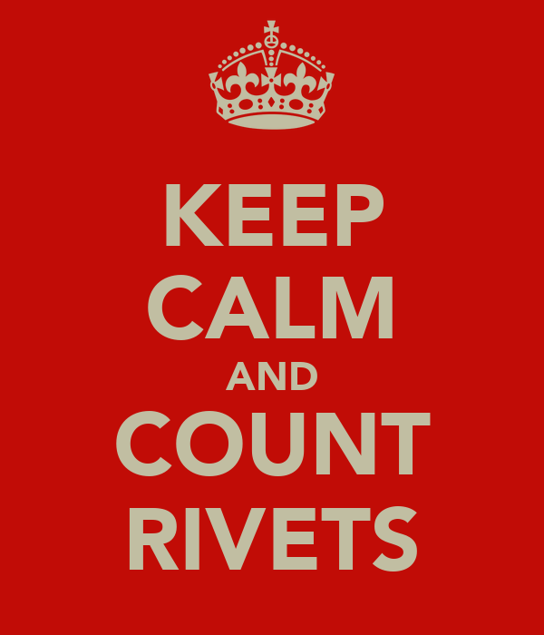 KEEP CALM AND COUNT RIVETS
