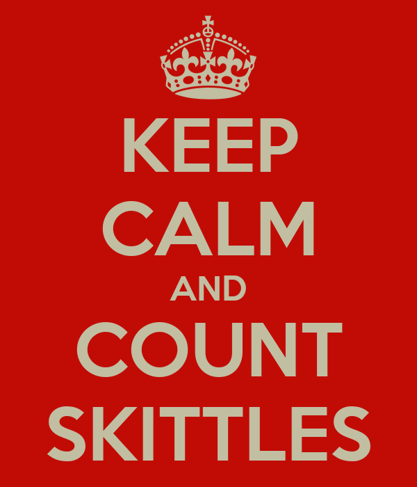 KEEP CALM AND COUNT SKITTLES