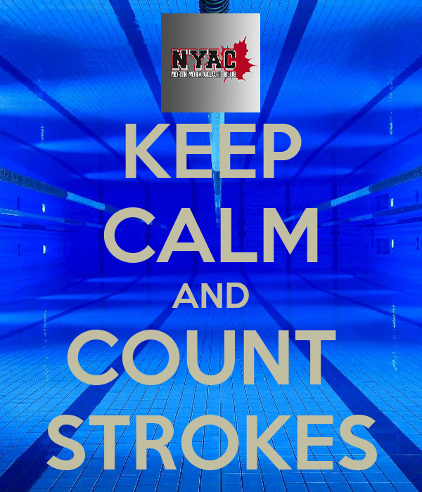 KEEP CALM AND COUNT  STROKES
