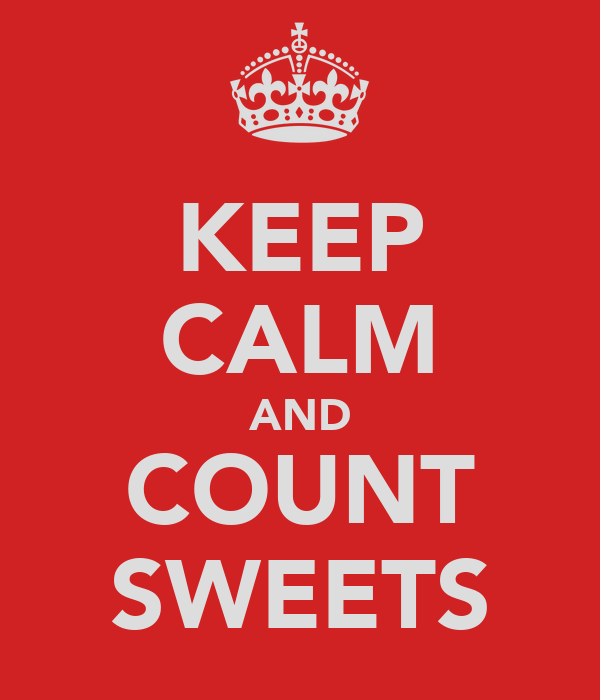 KEEP CALM AND COUNT SWEETS